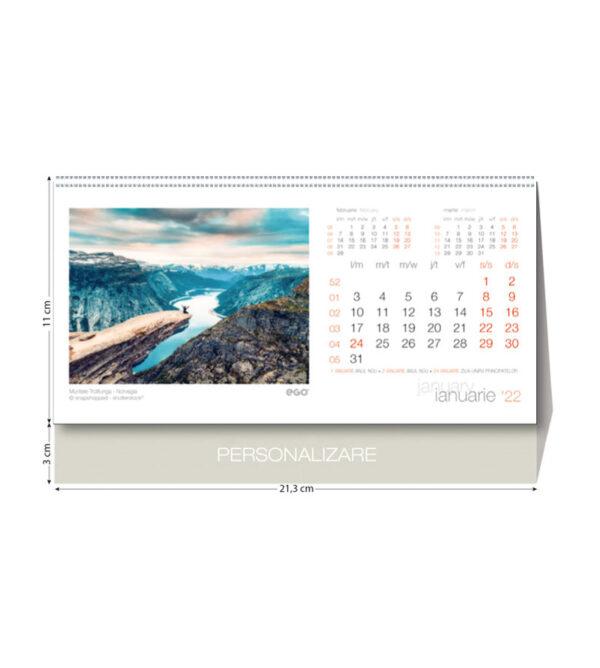 Calendar birou peisaje 2022