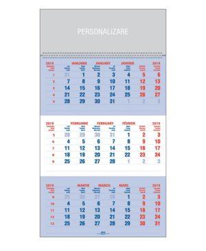 Calendar triptic perete