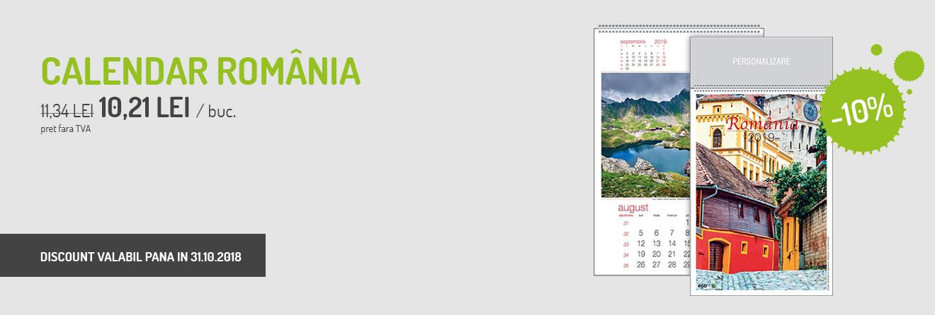 Calendar perete Romania 2019